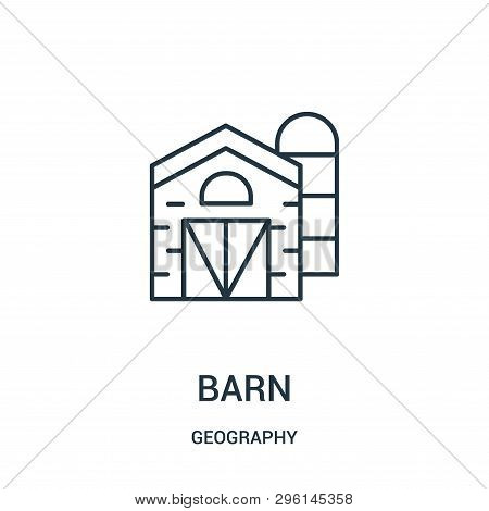 Barn Icon Isolated On White Background From Geography Collection. Barn Icon Trendy And Modern Barn S