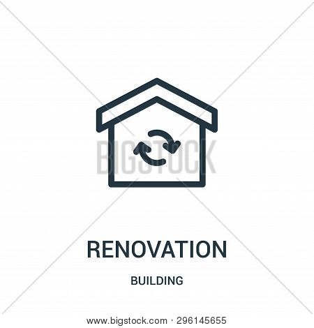 Renovation Icon Isolated On White Background From Building Collection. Renovation Icon Trendy And Mo