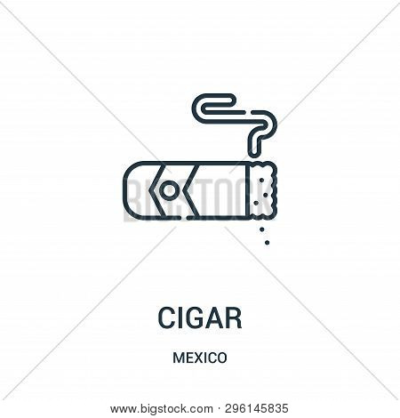 Cigar Icon Isolated On White Background From Mexico Collection. Cigar Icon Trendy And Modern Cigar S