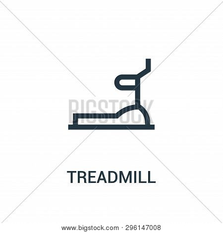 Treadmill Icon Isolated On White Background From Gym Collection. Treadmill Icon Trendy And Modern Tr