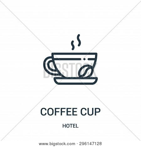 Coffee Cup Icon Isolated On White Background From Hotel Collection. Coffee Cup Icon Trendy And Moder