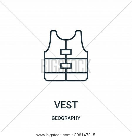 Vest Icon Isolated On White Background From Geography Collection. Vest Icon Trendy And Modern Vest S