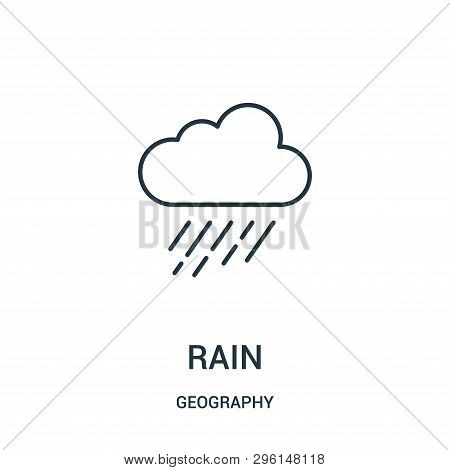 Rain Icon Isolated On White Background From Geography Collection. Rain Icon Trendy And Modern Rain S