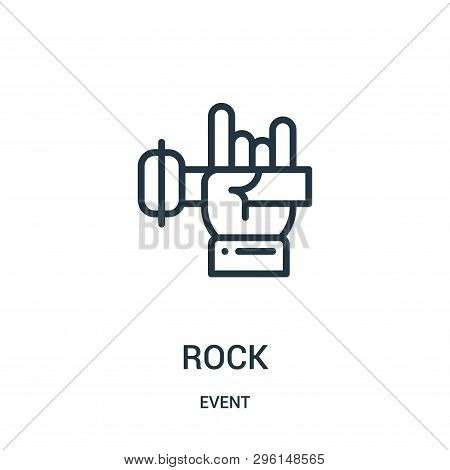 Rock Icon Isolated On White Background From Event Collection. Rock Icon Trendy And Modern Rock Symbo