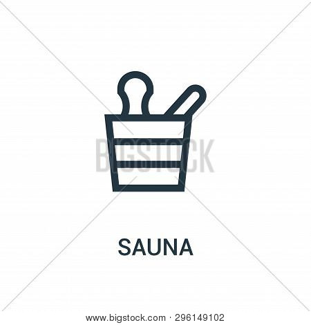 Sauna Icon Isolated On White Background From Gym Collection. Sauna Icon Trendy And Modern Sauna Symb