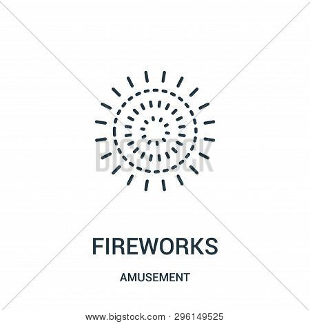 Fireworks Icon Isolated On White Background From Amusement Collection. Fireworks Icon Trendy And Mod