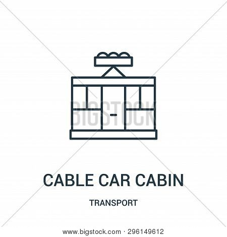 Cable Car Cabin Icon Isolated On White Background From Transport Collection. Cable Car Cabin Icon Tr
