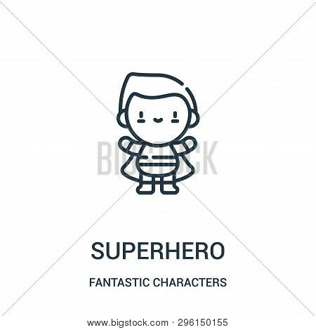 Superhero Icon Isolated On White Background From Fantastic Characters Collection. Superhero Icon Tre