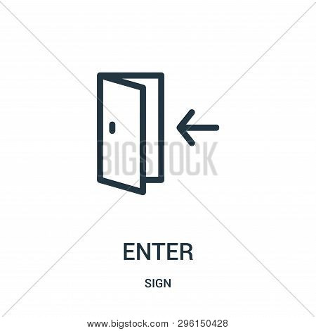 Enter Icon Isolated On White Background From Sign Collection. Enter Icon Trendy And Modern Enter Sym
