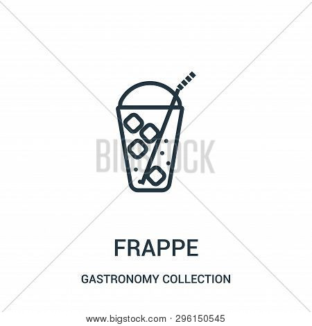 Frappe Icon Isolated On White Background From Gastronomy Collection. Frappe Icon Trendy And Modern F
