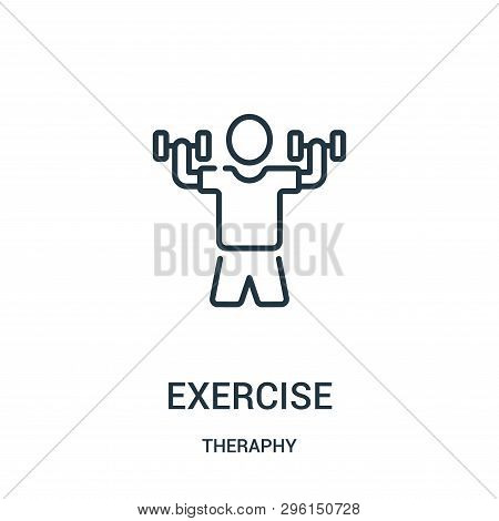 Exercise Icon Isolated On White Background From Theraphy Collection. Exercise Icon Trendy And Modern
