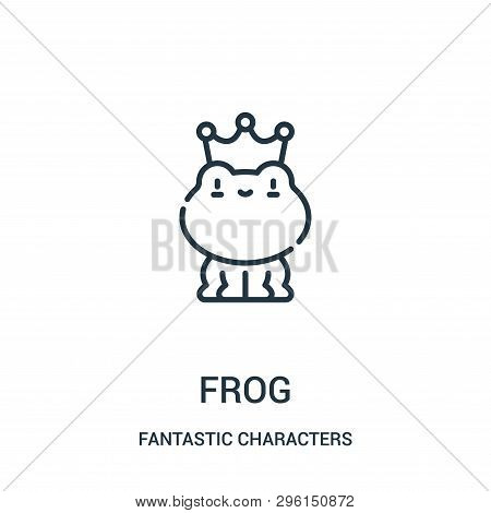 Frog Icon Isolated On White Background From Fantastic Characters Collection. Frog Icon Trendy And Mo
