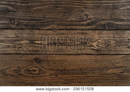 Old wooden texture background. Rustic wooden table or floor.
