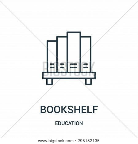 Bookshelf Icon Isolated On White Background From Education Collection. Bookshelf Icon Trendy And Mod