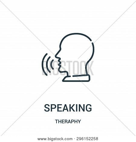 Speaking Icon Isolated On White Background From Theraphy Collection. Speaking Icon Trendy And Modern