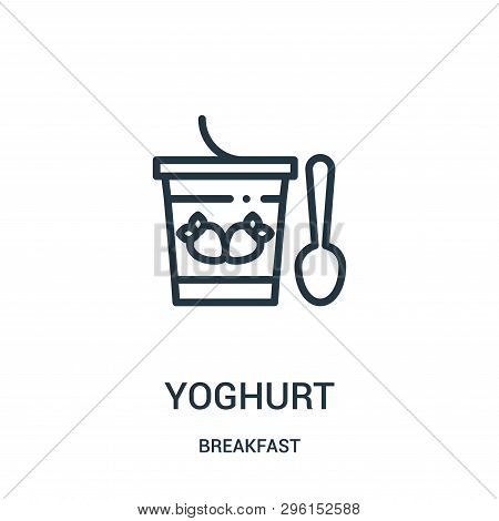 Yoghurt Icon Isolated On White Background From Breakfast Collection. Yoghurt Icon Trendy And Modern