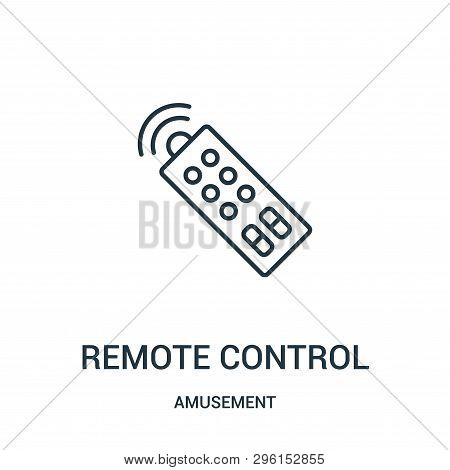 Remote Control Icon Isolated On White Background From Amusement Collection. Remote Control Icon Tren