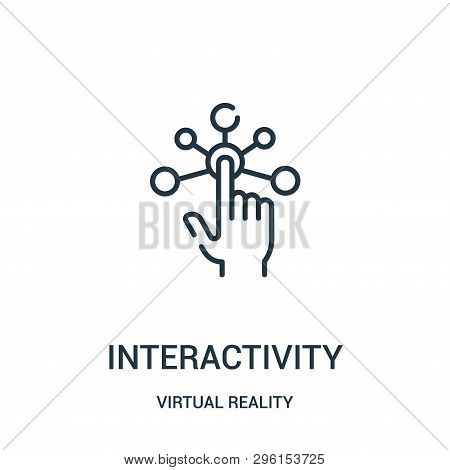 Interactivity Icon Isolated On White Background From Virtual Reality Collection. Interactivity Icon