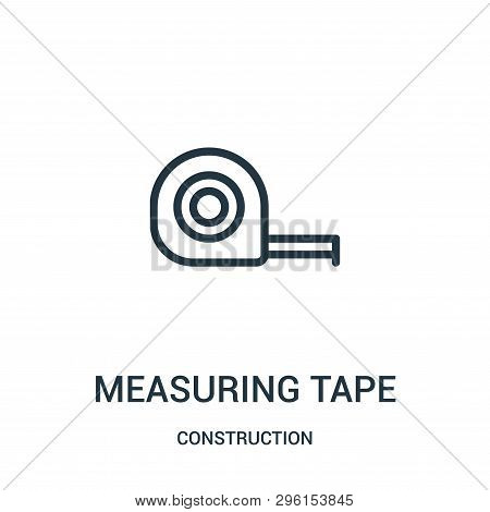 Measuring Tape Icon Isolated On White Background From Construction Collection. Measuring Tape Icon T