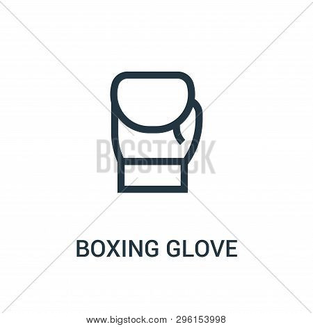 Boxing Glove Icon Isolated On White Background From Gym Collection. Boxing Glove Icon Trendy And Mod