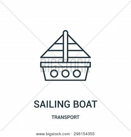 Sailing Boat Icon Isolated On White Background From Transport Collection. Sailing Boat Icon Trendy A