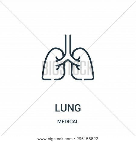 Lung Icon Isolated On White Background From Medical Collection. Lung Icon Trendy And Modern Lung Sym