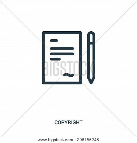 Signature Icon Isolated On White Background From Copyright Collection. Signature Icon Trendy And Mod