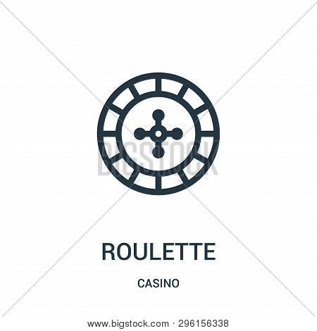 Roulette Icon Isolated On White Background From Casino Collection. Roulette Icon Trendy And Modern R