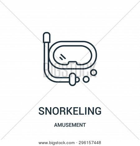 Snorkeling Icon Isolated On White Background From Amusement Collection. Snorkeling Icon Trendy And M