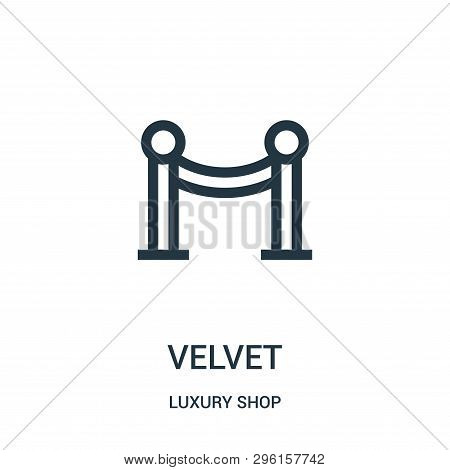 Velvet Icon Isolated On White Background From Luxury Shop Collection. Velvet Icon Trendy And Modern