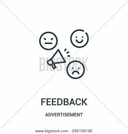 Feedback Icon Isolated On White Background From Advertisement Collection. Feedback Icon Trendy And M