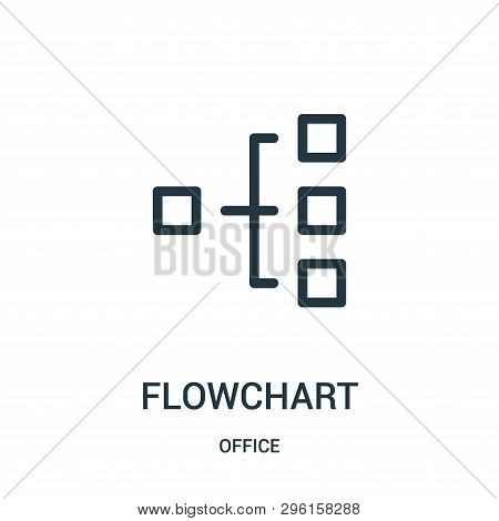 Flowchart Icon Isolated On White Background From Office Collection. Flowchart Icon Trendy And Modern