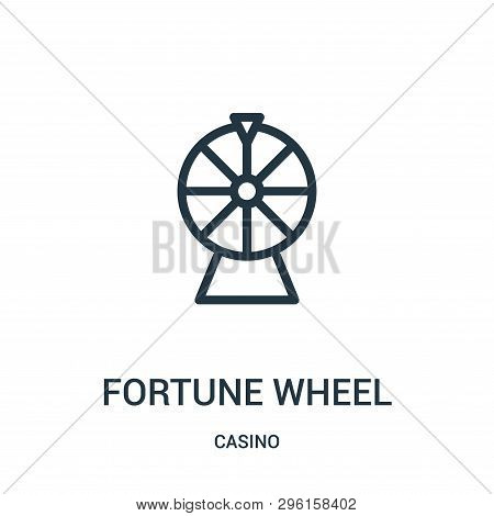 Fortune Wheel Icon Isolated On White Background From Casino Collection. Fortune Wheel Icon Trendy An