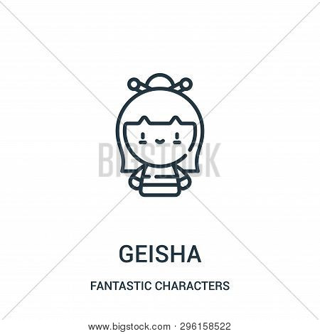 Geisha Icon Isolated On White Background From Fantastic Characters Collection. Geisha Icon Trendy An