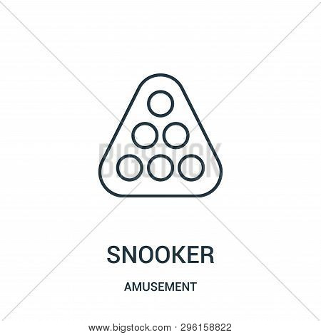 Snooker Icon Isolated On White Background From Amusement Collection. Snooker Icon Trendy And Modern