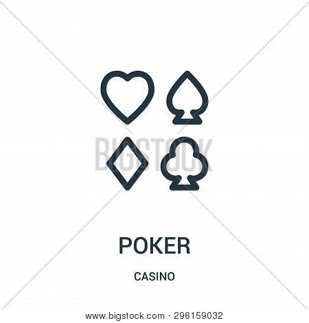 Poker Icon Isolated On White Background From Casino Collection. Poker Icon Trendy And Modern Poker S