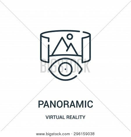 Panoramic Icon Isolated On White Background From Virtual Reality Collection. Panoramic Icon Trendy A