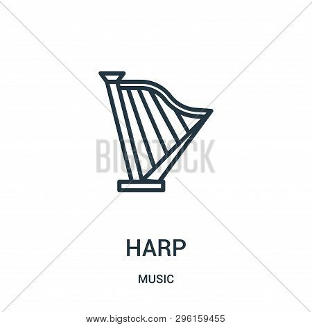 Harp Icon Isolated On White Background From Music Collection. Harp Icon Trendy And Modern Harp Symbo