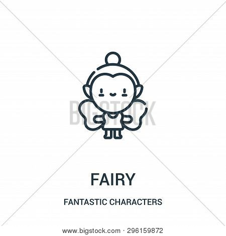 Fairy Icon Isolated On White Background From Fantastic Characters Collection. Fairy Icon Trendy And
