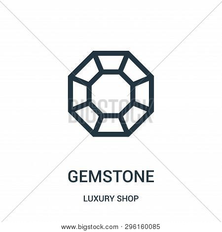 Gemstone Icon Isolated On White Background From Luxury Shop Collection. Gemstone Icon Trendy And Mod