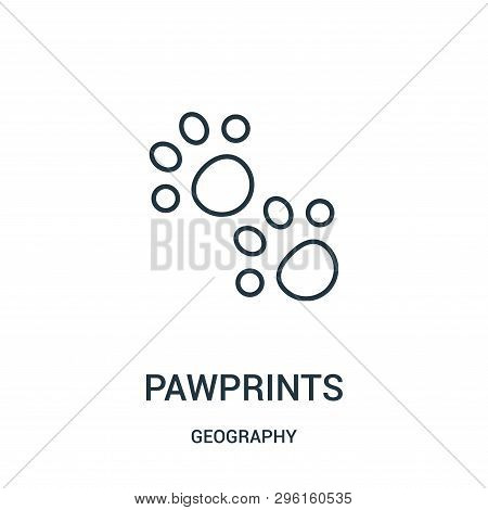 Pawprints Icon Isolated On White Background From Geography Collection. Pawprints Icon Trendy And Mod