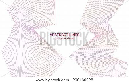 Abstract Colorfull Wave Element For Design. Digital Frequency Track Equalizer. Stylized Line Art Bac