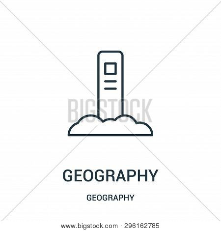 Geography Icon Isolated On White Background From Geography Collection. Geography Icon Trendy And Mod