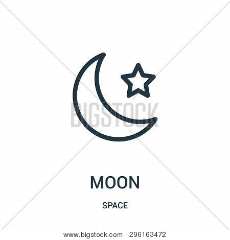 Moon Icon Isolated On White Background From Space Collection. Moon Icon Trendy And Modern Moon Symbo