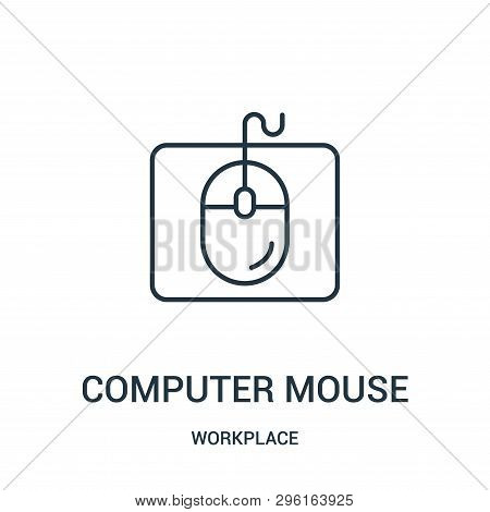Computer Mouse Icon Isolated On White Background From Workplace Collection. Computer Mouse Icon Tren