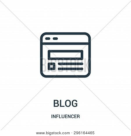 Blog Icon Isolated On White Background From Influencer Collection. Blog Icon Trendy And Modern Blog