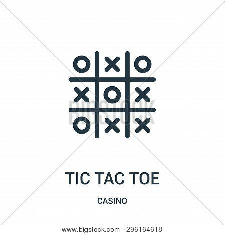 Tic Tac Toe Icon Isolated On White Background From Casino Collection. Tic Tac Toe Icon Trendy And Mo