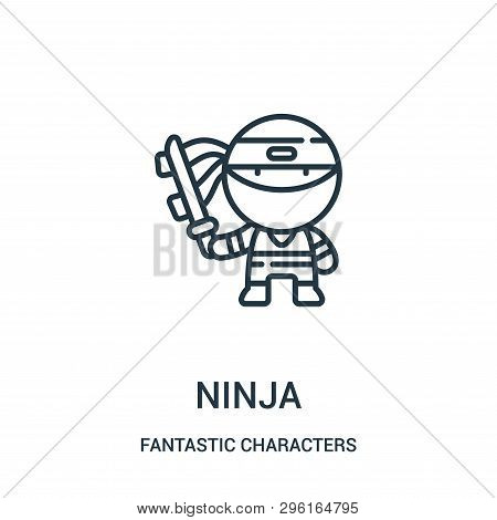 Ninja Icon Isolated On White Background From Fantastic Characters Collection. Ninja Icon Trendy And