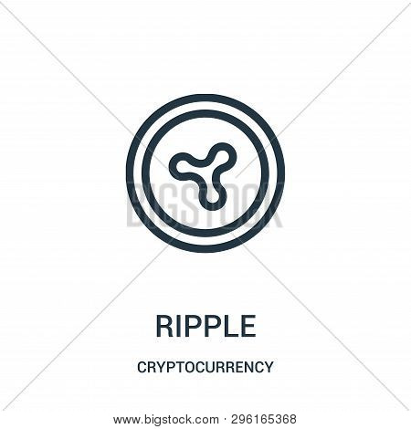 Ripple Icon Isolated On White Background From Cryptocurrency Collection. Ripple Icon Trendy And Mode