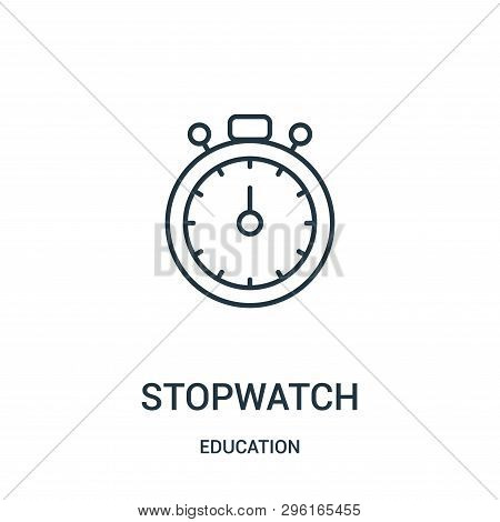 Stopwatch Icon Isolated On White Background From Education Collection. Stopwatch Icon Trendy And Mod